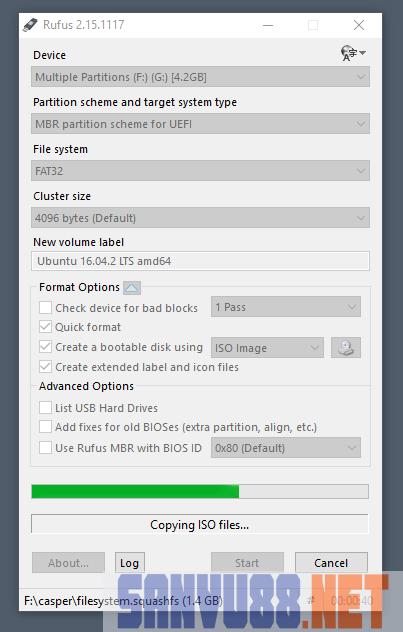 tạo USB boot cài Ubuntu trên windows