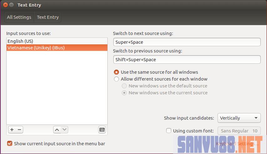 gõ tiếng việt trên ubuntu